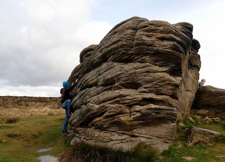 Victory Boulder, one of the Three Ships on top of Birchen Edge