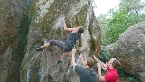 Kelly climbing on Duroxmanie